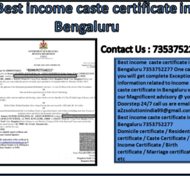 Best income caste certificate in Bengaluru 7353752277