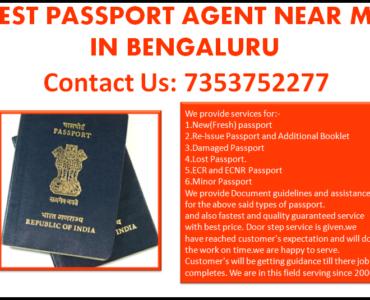 BEST PASSPORT AGENT NEAR ME IN BENGALURU 7353752277