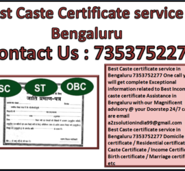 Best Caste Certificate service in Bengaluru 7353752277