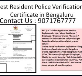 Best Resident Police Verification Certificate in Bengaluru 9071767777