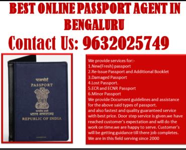 BEST ONLINE PASSPORT AGENT IN BENGALURU 9632025749