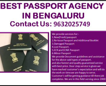 Best Passport Agency in Bengaluru 9632025749