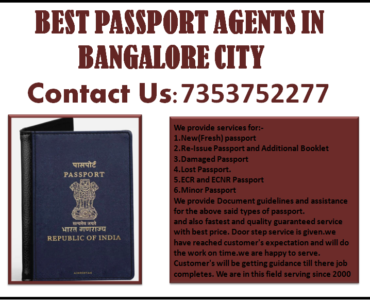 BEST PASSPORT AGENTS IN BANGALORE CITY 7353752277