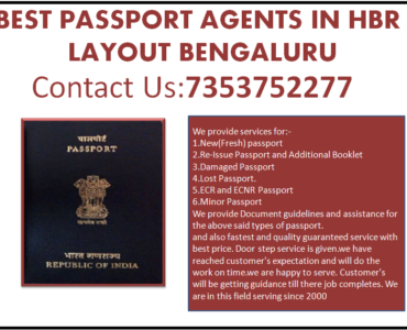 Best Passport Agents In HBR layout Bengaluru 7353752277