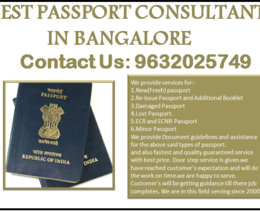 BEST PASSPORT CONSULTANT IN BANGALORE 9632025749