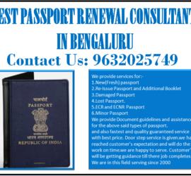 BEST PASSPORT RENEWAL CONSULTANT IN BENGALURU 9632025749