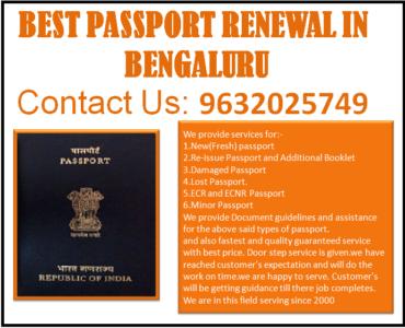 BEST PASSPORT RENEWAL IN BENGALURU 9632025749