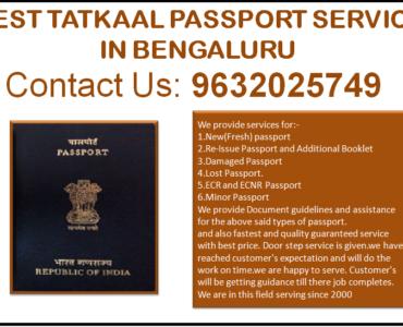 Best Tatkaal Passport service in Bengaluru 9632025749