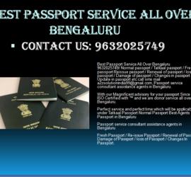 BEST PASSPORT SERVICE ALL OVER BENGALURU 9632025749