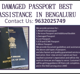 DAMAGED PASSPORT BEST ASSISTANCE IN BENGALURU 9632025749