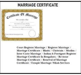 Best Marriage Certificate in Bengaluru Shivajinagar 9071767774