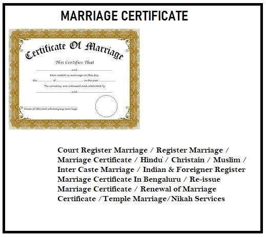 Best Hindu Marriage Certificate in Bengaluru