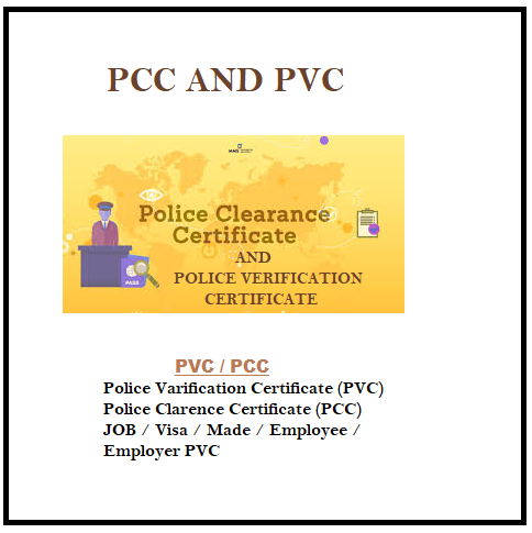 PCC AND PVC 110